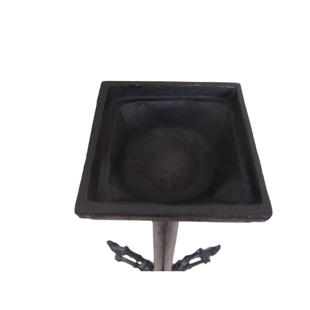 Metal Modern Wrought Iron Candle Holder For Sale - Image 7 of 9
