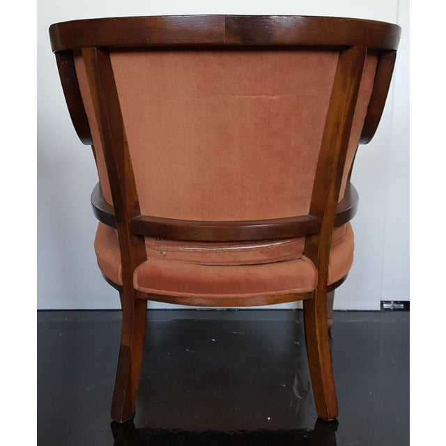 Mid 20th Century Mid-Century Neoclassical Revival Arm Chairs - a Pair For Sale - Image 5 of 10