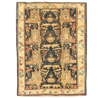 Rare Antique 19th Century Persian Village Rug