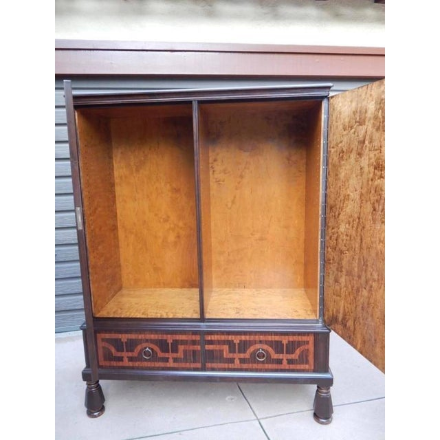 1920s Swedish Art Deco Inlaid Rosewood Storage For Sale - Image 5 of 9