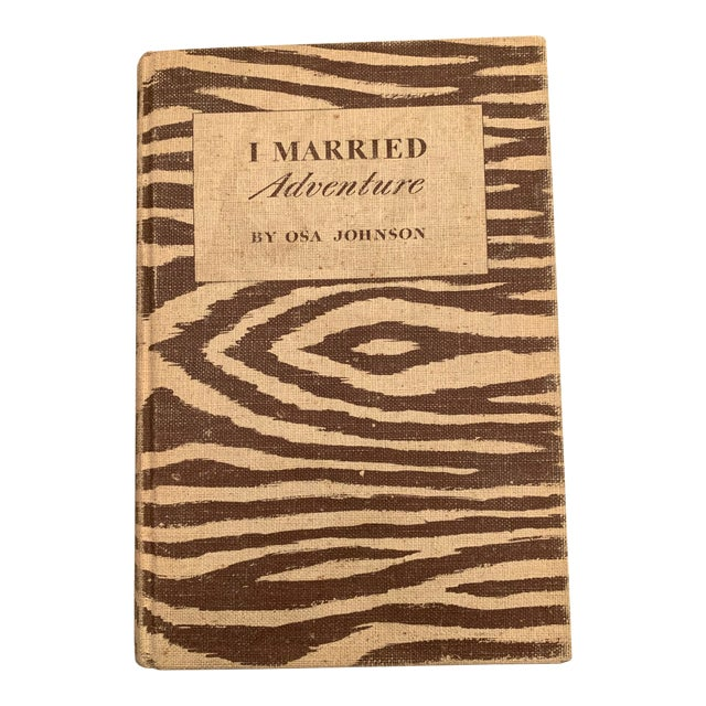 1940 I Married Adventure by Osa Johnson First Edition Book For Sale