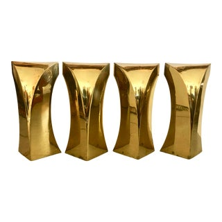 4 Bronze Coffee Table Legs For Sale