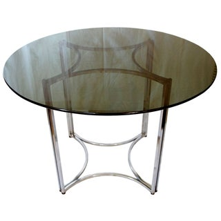Milo Baughman Style Dining Table For Sale