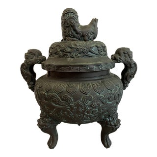 James Mont Style Foo Dog Ice Bucket For Sale