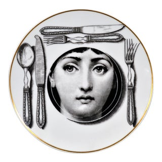 Rosenthal Piero Fornasetti Porcelain Plate Themes & Variation Pattern, Motiv 11 For Sale