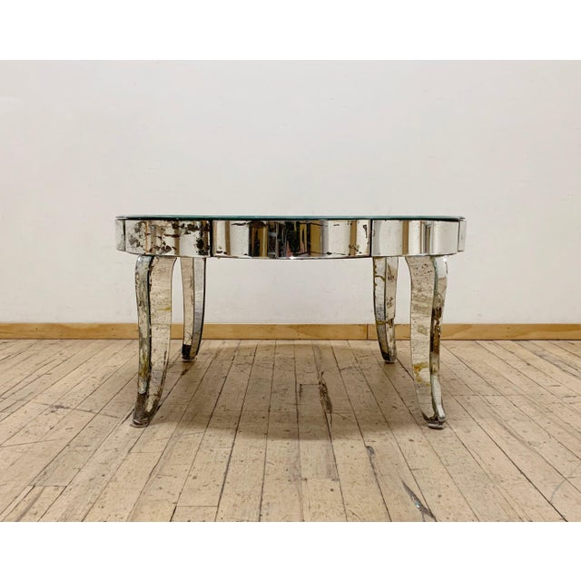 Early 20th Century Period French or Italian Deco Mirrored Coffee Table For Sale - Image 5 of 7