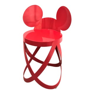 Mickey Mouse Ribbon Stool For Sale