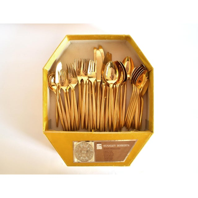 Gold 1960s Mid-Century Modern Gold Flatware Service for 8 - 50 Pieces Set For Sale - Image 8 of 11