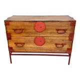 Image of Late 19th Century Antique Japanese Tansu Cabinet For Sale