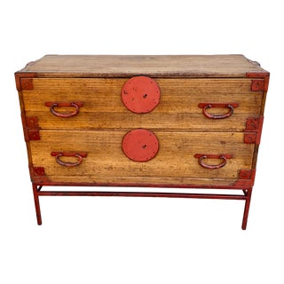 Late 19th Century Antique Japanese Tansu Cabinet For Sale
