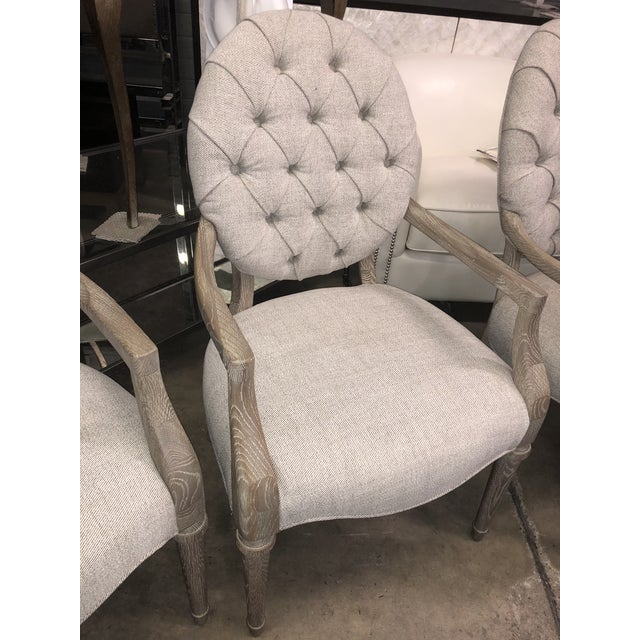 Fabric Contemporary Tufted Upholstered Armchair For Sale - Image 7 of 9