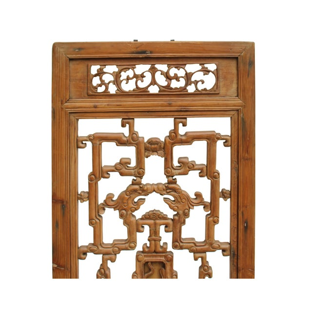Chinese Vintage Light Brown Relief Motif Wood Wall Hanging Art For Sale In San Francisco - Image 6 of 9