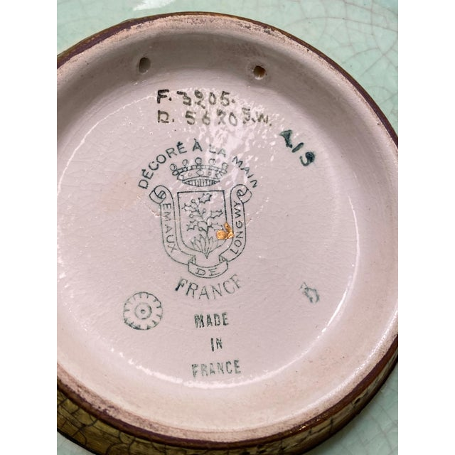 French De Longwy Small Plate For Sale In Dallas - Image 6 of 8