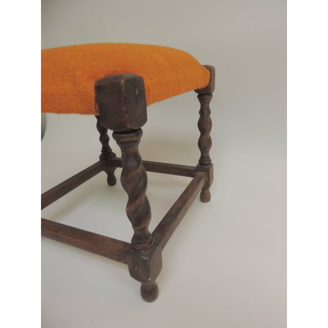 Arts & Crafts Small Arts & Crafts Square Vintage Milking Stool For Sale - Image 3 of 5