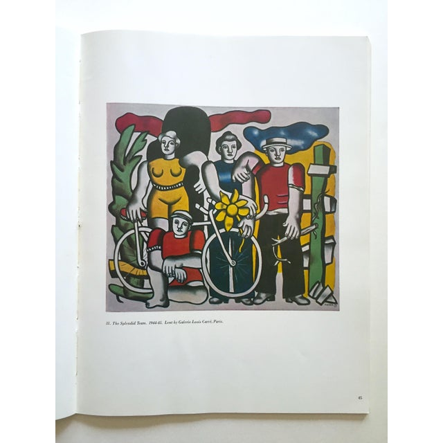 """Paper Fernand Leger Rare Vtg 1962 Lmtd Edtn """" Five Themes & Variations """" Guggenheim Museum Exhibition Catalogue Collector's Art Book For Sale - Image 7 of 13"""