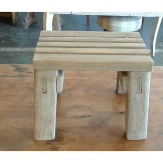 19th Century French Pinewood Country Slatted Foot-Stool Preview