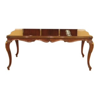 Karges French Style Walnut Dining Room Table For Sale