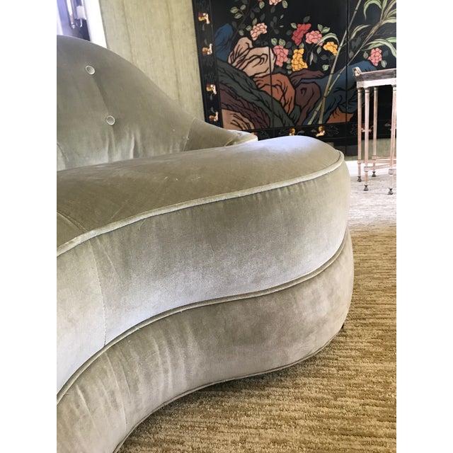 Vintage Dunbar Sofa Model 2173-A Attributied Elsa Schiaparelli Art Deco Curved Sofas - a Pair For Sale - Image 9 of 13