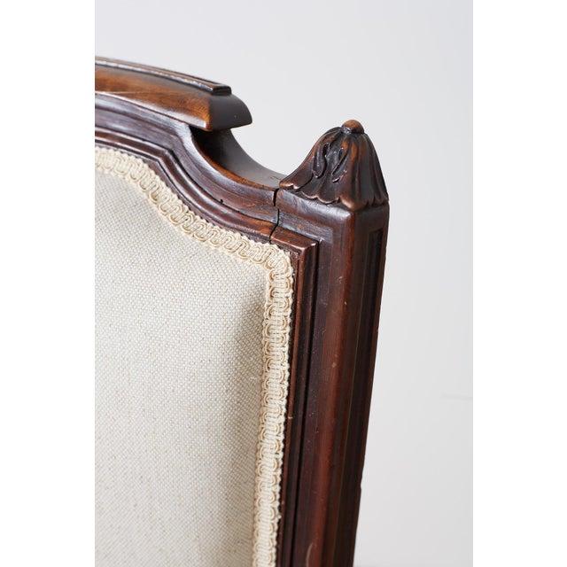 Pair of Maison Jansen Louis XVI Style Walnut Bergères For Sale - Image 9 of 13