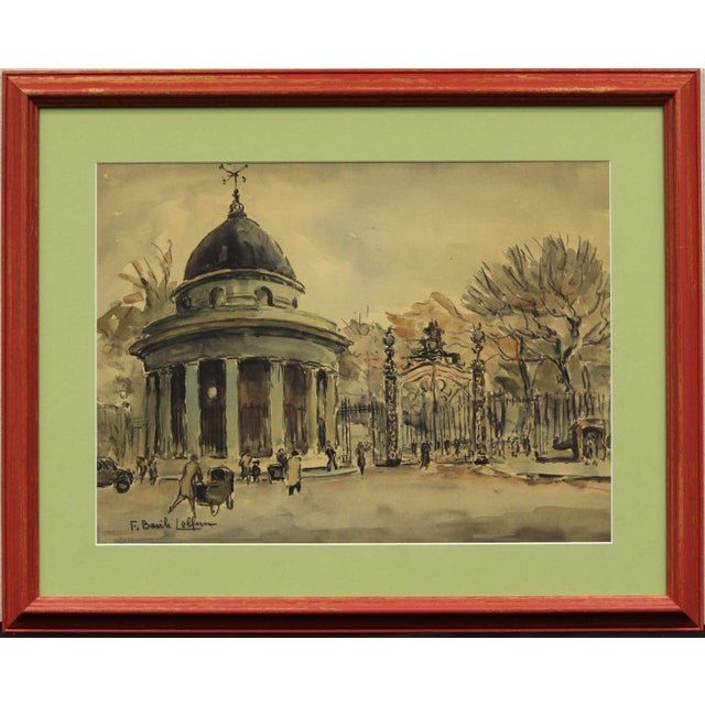 Paris II Watercolor Painting For Sale