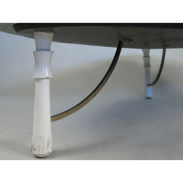 1950s Marble Triangular 1950s Cocktail Table For Sale - Image 5 of 6