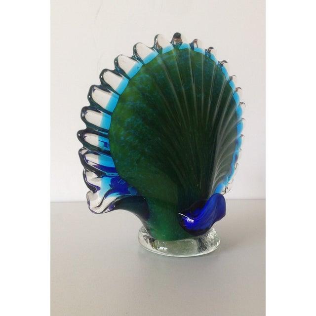 Italian Murano Handblown Peacock - Image 9 of 9