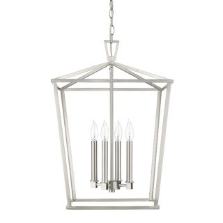 Ponce City 4 Light Pendant, Satin Nickel For Sale