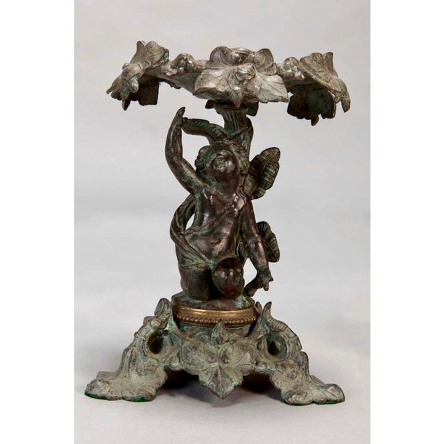 Art Nouveau 19th C. Tall Bronze French Tazzas - A Pair For Sale - Image 3 of 5