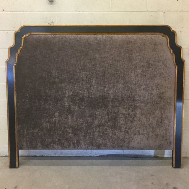 Jonathan Charles Regency Style Upholstered King Size Headboard For Sale - Image 11 of 11