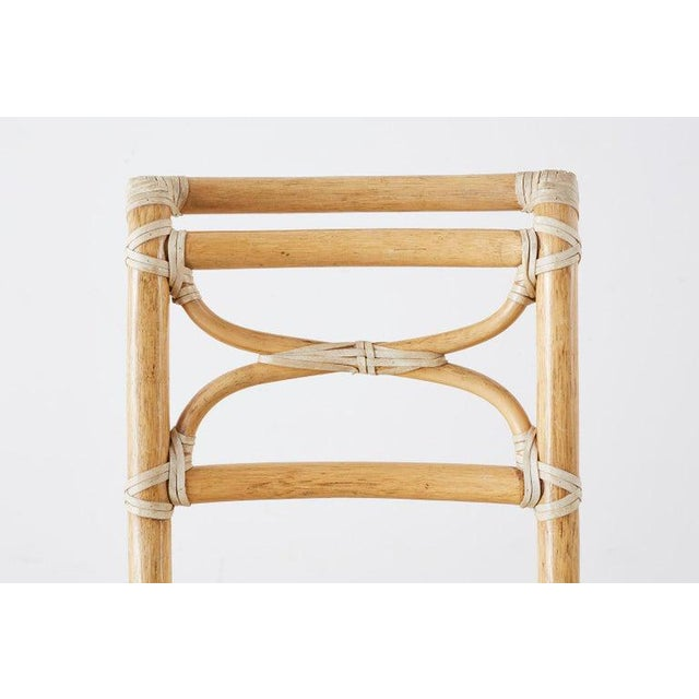 McGuire Set of Six Organic Modern Rattan Dining Chairs For Sale In San Francisco - Image 6 of 13