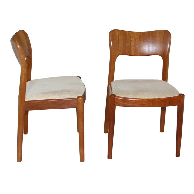 1960s 6 Danish Teak Chairs by Niels Koefoeds For Sale - Image 5 of 10