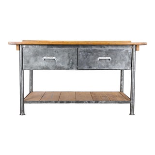 1950s Vintage Industrial Pharmacy Counter For Sale
