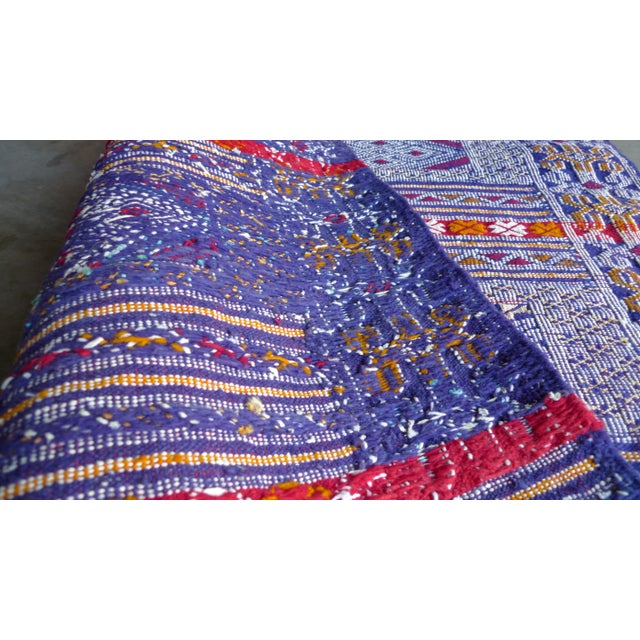 Multi-Colored Hand Woven Moroccan Rug For Sale - Image 4 of 7
