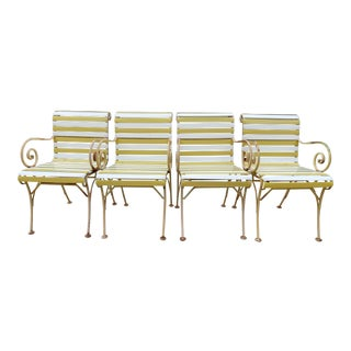 Russell Woodard Plastic Strap Scroll Arm Project Chairs - Set of 4 For Sale