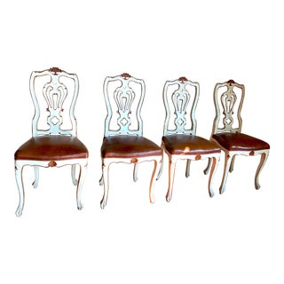 1920s Vintage Italian Chairs- Set of 4 For Sale