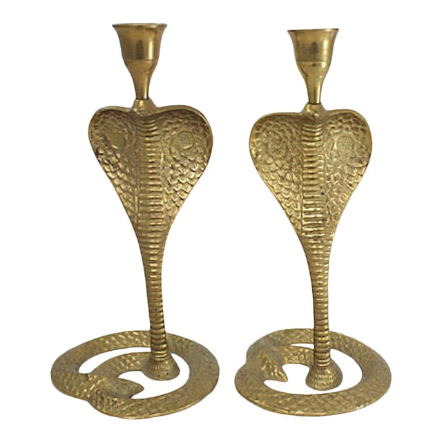 Brass Cobra Candlesticks For Sale