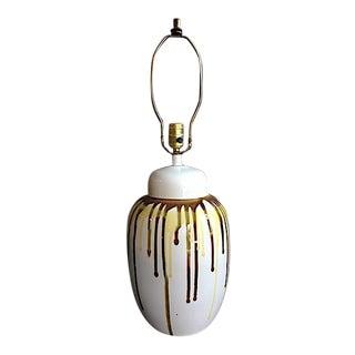 Mid-Century Drip Glaze Table Lamp For Sale