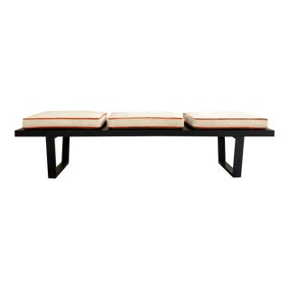 George Nelson for Herman Miller Platform Bench With Cowhide Cushions For Sale
