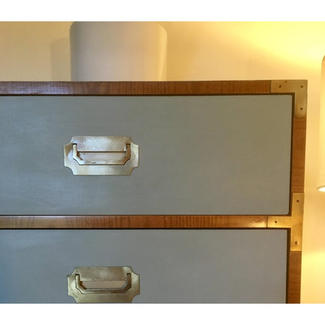 Now available is this stunning campaigner built in the 1960's by Dixie Furniture. This piece features six solid wood...
