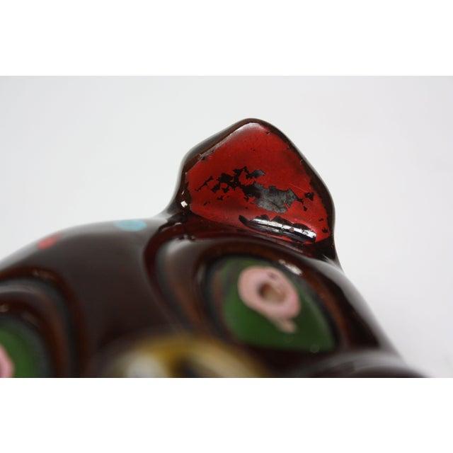 Hand-Painted Folk Art Porcelain 'Pig' Ashtray For Sale - Image 12 of 13