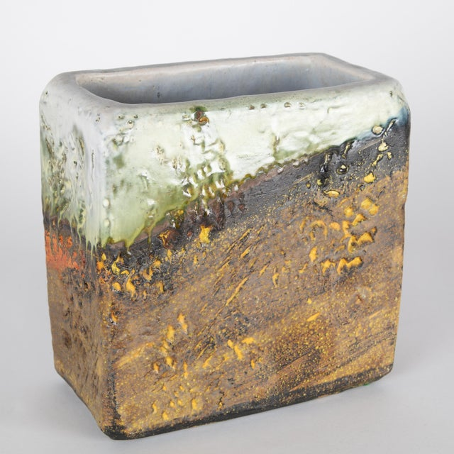 1960s 1960s Rectangular Vase by Marcello Fantoni For Sale - Image 5 of 13
