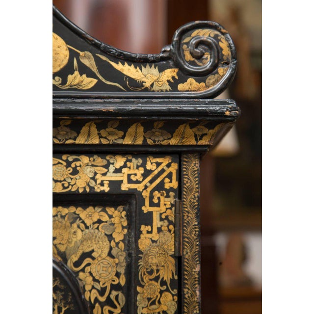 19th Century English Queen Anne Chinoiserie Chest on Stand - Image 8 of 10