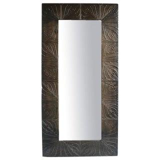 Vintage Metal Panel Mirror For Sale