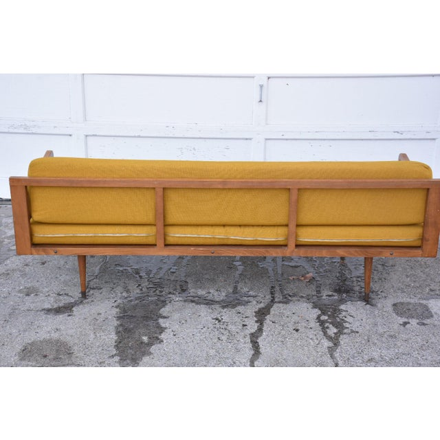 Danish Style Yellow Daybed - Image 8 of 10