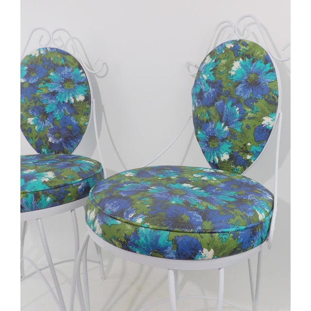 Mid-Century Modern Wrought Iron Patio Chairs - A Pair - Image 9 of 10