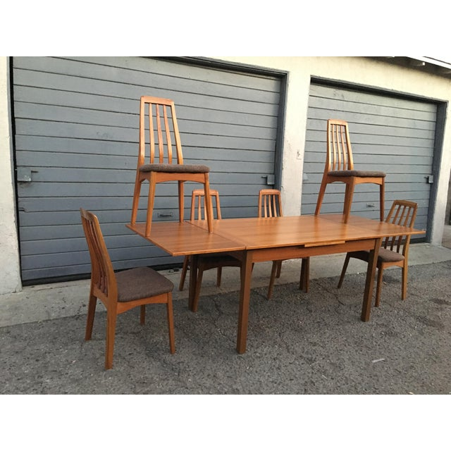 Mid-Century Modern Benny Linden Design Mid-Century Dining Table & 6 Chairs For Sale - Image 3 of 11