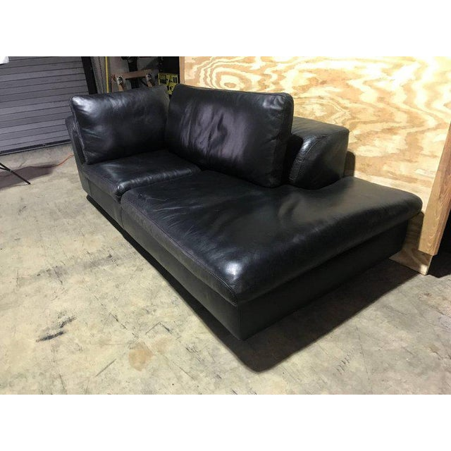 Excellent Roche Bobois Black Leather Sectional Sofa Andrewgaddart Wooden Chair Designs For Living Room Andrewgaddartcom