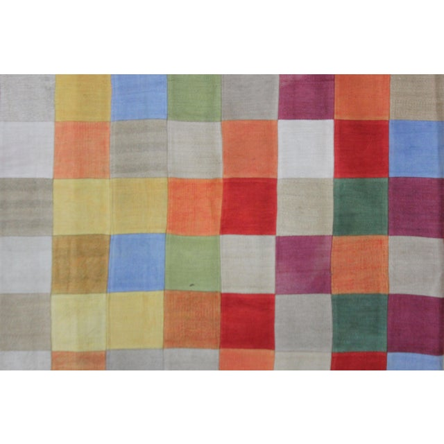 A beautiful antique Patchwork Kilim. It's in very good condition, practically new. This Patchworks kilim is produced of...