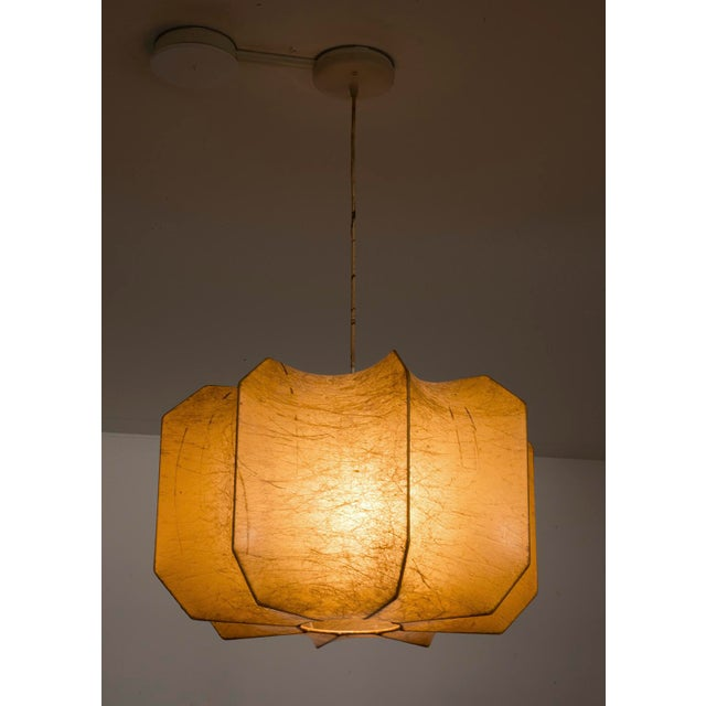 Italian Resin Cocoon Pendant Lamp in the Style of Pier and Achille Castiglioni, 1960s For Sale - Image 9 of 10