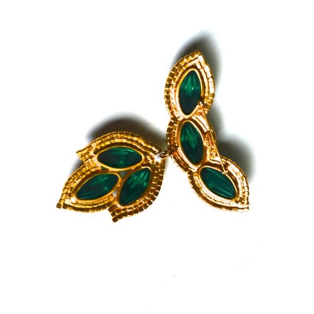 Mid-Century Modern William De Lillo Green Lotus Brooch For Sale - Image 3 of 5
